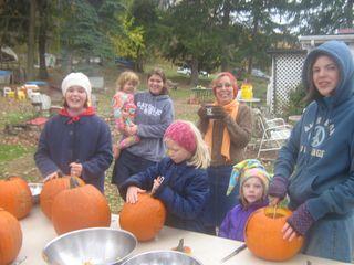All souls pumpkin carving 049
